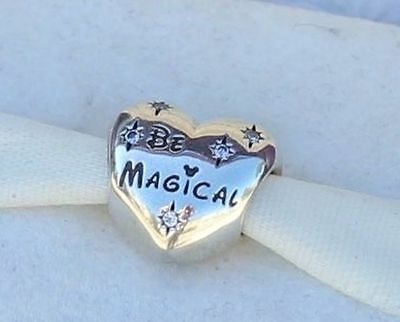 Genuine Pandora Sterling Silver Disney Be Magical Charm Retired 791439CZ