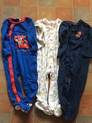 Small Bundle Of Boys Babygrows. Age 9-12 Months