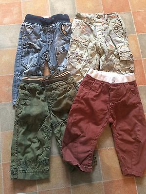 Bundle Of Next Boys Trousers. Age 9-12 Months