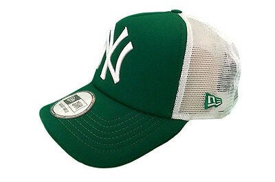 New York Yankees Trucker Green/White MLB League Adjustable New Era Baseball Cap