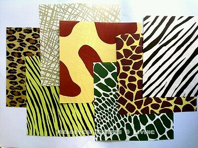 70PCS Fancy Craft Scrapbook Origami Chiyoga Paper-7 Animal Inspired Bold Prints!