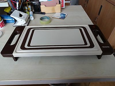Vintage German 1970s Kitsch Retro Hot Plate Food Warmer Party Kitchenalia Cafe