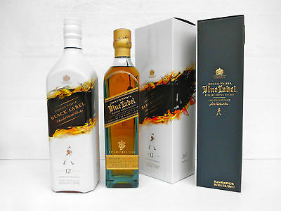 Johnnie Walker Blue Label Rare 500ml & Black Label Mattia Biagi Limited Edition!