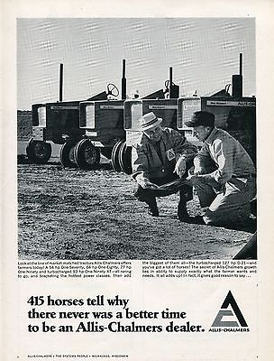 1968 Dealer Print Ad of Allis Chalmers AC One Seventy Eighty & Ninety Tractor