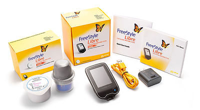 *NEW & SEALED* Freestyle Libre System 2xSensor 1xReader FREE WORLDWIDE SHIPPING