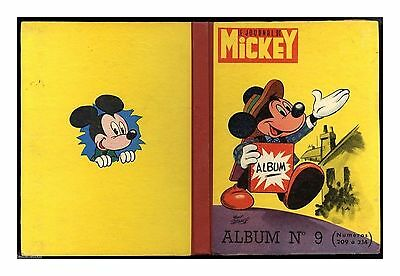 Journal de Mickey 1956 ALBUM / RELIURE n°   9 ETAT RARE TBE