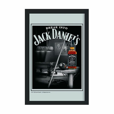 Jack Daniels Billiards Framed Mirror Snooker Pool Room Bar Tennessee Whisky