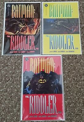 DC Comics Batman Run Riddler Run Issues 1-3 Complete