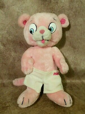Vintage 1984 Mighty Star Pink Panther and Sons Panky plush son stuffed figure