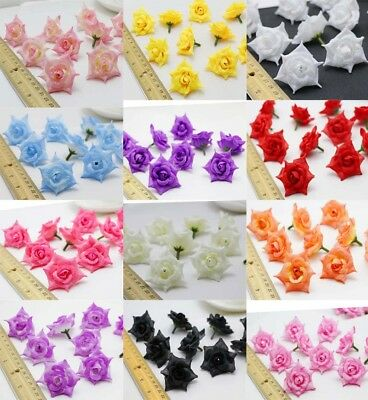NEW 100PC Artificial simulation Curling Rose silk flowers head wedding wholesale