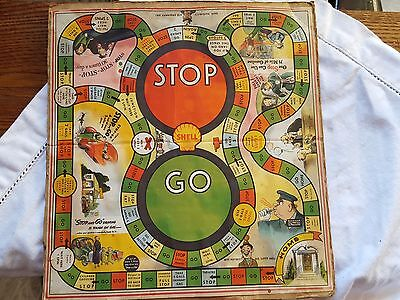 1940's 1950's Shell Oil Board Game -