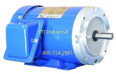 3/4 HP Electric Motor  56C Frame 3 Phase 1800 RPM TEFC Inverter Rated