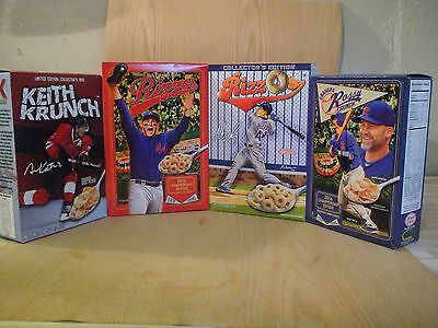 Lot of 4 Boxes: Rizzo's 2016 Championship Cereal Grandpa Rossy Keith Krunch Cubs