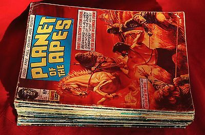 Planet of The Apes Comic bundle - UK Marvel - vintage 1974 - inc 1. 2. 3