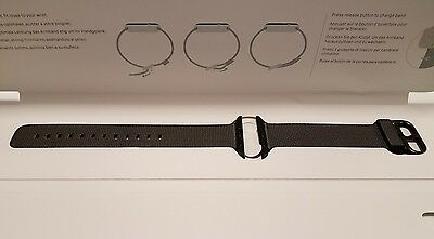 GENUINE Apple Watch Woven Nylon Band 42mm Black Space Stainles Steel buckle