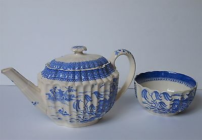 Antique English Teapot and bowl