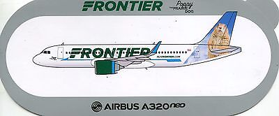 Sticker Airbus / Autocollant Airbus A320 Neo Frontier