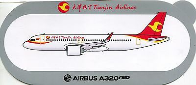 Sticker Airbus / Autocollant Airbus A320 Neo Tianjin Airlines