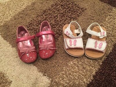 lot of 2 pairs toddler girl size 6 shoes
