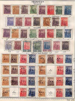 ARGENTINA Stamps 1911-19 USED/MH Classic Issue  on 2 pages Cat.$79