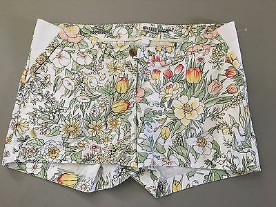 NEW Gap Maternity Summer Shorts Floral Cotton Twill Womens Sz 12
