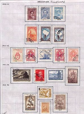 ARGENTINA Stamps 1935-51 USED/MH Small lot on 2 pages