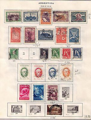 ARGENTINA Stamps 1931-42 SC# 409/464 with 418-450 Cpl.Set USED/MH Cat.$38