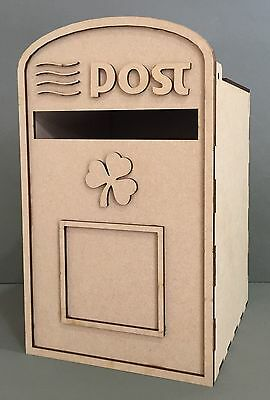 Y122 Irish Postal MAIL Post Service WEDDING CELEBRATION MDF POST NOTE BOX STAND