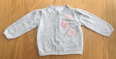 Little White Company 3-6 Months Girls Cardigan Excellent Condition