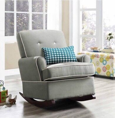 Baby Relax Tinsley Nursery Rocker Chair Gray Rockers Gliders Furniture
