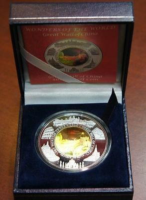 "2003 CAMBODIA 10000 RIELS ""Great Wall of China"" SILVER & GOLD BI-METAL"