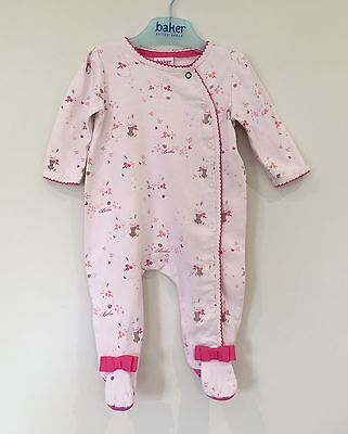 Baker By Ted Baker Baby Girls Bunny Sleepsuit 0-3 Months