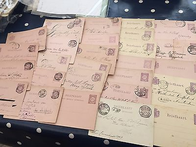 Netherlands cijfer type postcards 26 from late 1800's period