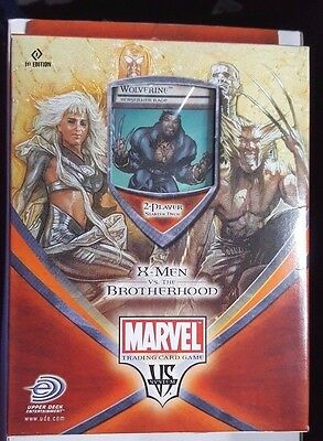 Marvel X-Men Vs The Brotherhood Trading Card Game Starter Deck 1St Edition New