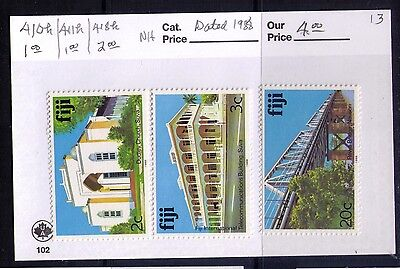 FIJI 1988 Stamps WITH LABEL Sc# 410;411;418  MNH