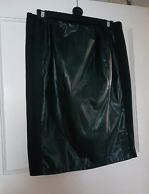 New Look size 14 Maternity black Faux leather skirt over the bump