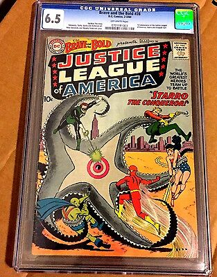 Brave and the Bold #28 CGC 6.5 OWP 1st Justice League of America DC Key Book