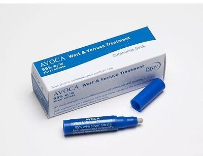 Avoca wart and verruca treatment silver nitrate 95% caustic pencil kit