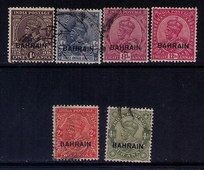 Bahrain Ovpt on Indian Stamps SC # 4;8;10;11;16;17 Used/MNG/Fault Cat.$17