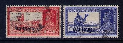 Bahrain Ovpt on Indian Stamps KGVI SC # 24;27 Used
