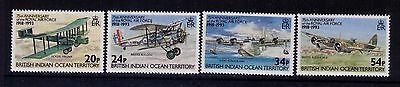 British Indian Territory Stamps Planes SC # 136-39 Cpl. MNH Set