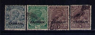 Bahrain Ovpt on Indian Stamps SC # 1;2;4 Used