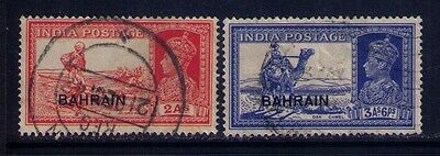 Bahrain Ovpt on Indian Stamps SC # 24;27 Used
