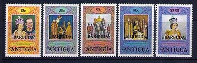 Barbuda Stamps SC #249-53 Cpl. MH Set