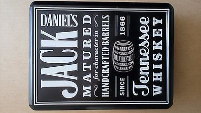Jack daniels Empty JACK DANIELS Old No7 Whiskey Collector Metal Tin Can Box