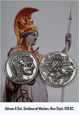 Athena, Goddess of Wisdom, with Owl and Amphora Coin, (83-S Version 3) New Style