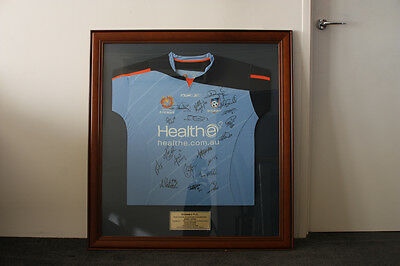 SYDNEY FC 2005/06 Inaugural A-League Championship season signed framed jersey