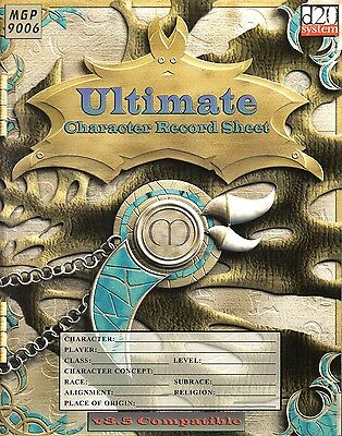 Ultimate Character Record Sheet for Rolpaying Game-RPG-d20-new