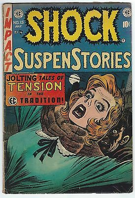 Shock SuspenStories #15 (Jun-Jul 1954 EC) Pre comic code Golden age readers copy