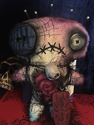 Voodoo doll  new orleans halloween ooak handmade animal rescue spooky primitive